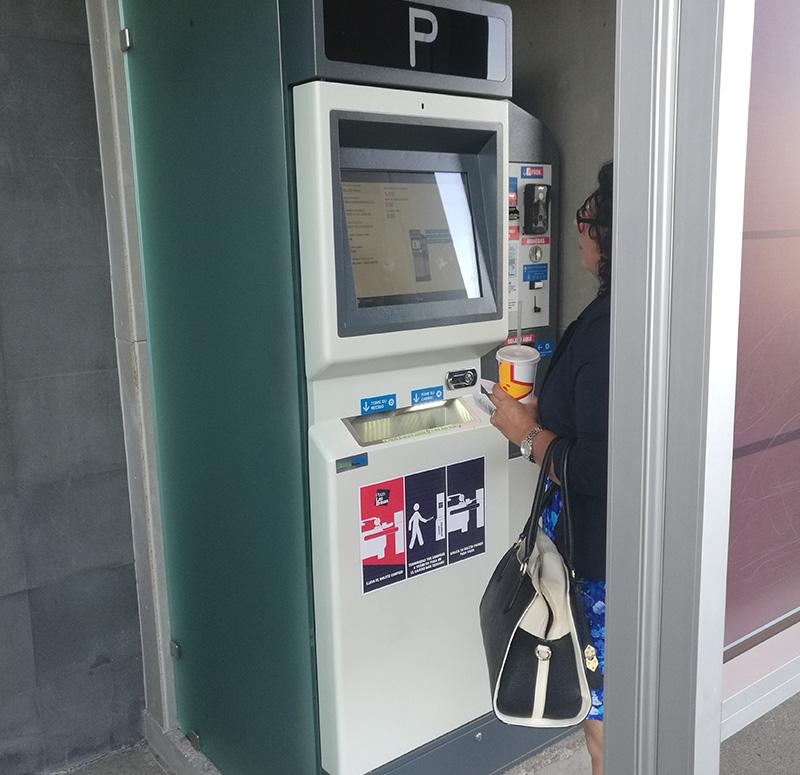 Barcode / QR code ticket parking solution