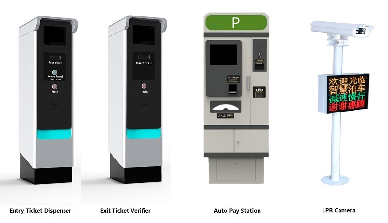 Touchless solution for parking management system